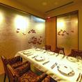 【完全個室】お席は完全個室となっております。周りの様子を気にせずゆっくりとお食事をお楽しみいただけるプライベート空間です。接待や、デート、会食などにぜひ当店をご利用ください。