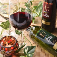 ワインやシャンパンなどのボトルメニューも豊富な品揃え