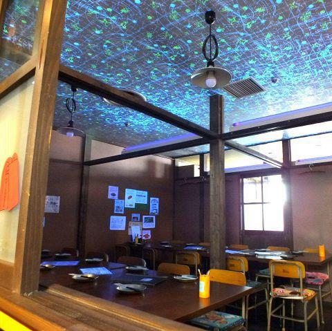 プラネタリウム室・8名様部屋が2つ。ひっつけて最大20名様までのご利用もできます♪