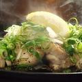 料理メニュー写真大山地鶏の鉄板焼き
