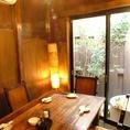 1階の個室はモダンな雰囲気♪♪5~8名くらいまで収容できる大人気の個室の為、早い者勝ちですよ!!
