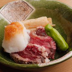 料理メニュー写真霜降り和牛ステーキ