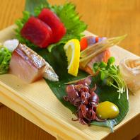 【店内には毎朝仕入れた鮮魚!】