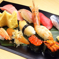 ランチでもディナーでのリーズナブルにお寿司をご堪能♪