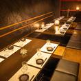 20名様までご利用可能な掘りごたつ個室。会社宴会や歓送迎会など大人数でのご宴会に最適な個室席です。