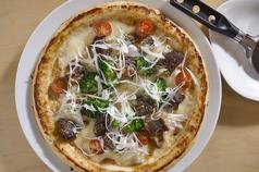 牛タンの味噌チーズピッツァ