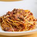 料理メニュー写真牛すじのボロネーゼスパゲティ