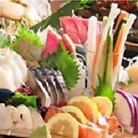 北海道新鮮な魚介類など豊富に使った料理がいっぱい!