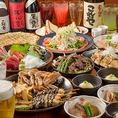 【飲放コース2700円(税抜)~】お手軽宴会に♪お好み・揚げ物等お料理に飲み放題2時間がついたコースは2700円(税抜)~※写真はイメージです。