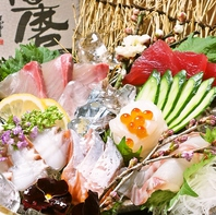 店内いけすを完備!!姫路の地物・旬物のお魚が揃う!