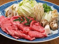 魚も肉も食べたい方に!【九州産黒毛和牛すき焼き】