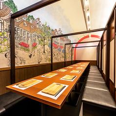 団体様も広々個室へご案内致します!新宿で特別な夜をお過ごし下さい♪デートや記念日などでもお使い下さい♪暖かな照明が個室空間を照らすプライベート個室でご宴会をお楽しみ下さい♪バル料理を新宿で堪能下さい!