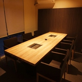 2階はすべて完全個室。こちらはテーブルの完全個室です。