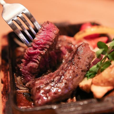 肉を食べるならニクバルダカラ★黒毛牛ステーキから種類豊富な肉料理まで楽しめます♪