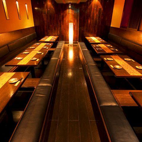 【大型宴会個室】大型宴会が出来る個室です。~60名様まで入ることができ企業様のご宴会や、パーティーの二次会などに便利です♪貸切にも出来ますのでご相談下さい!