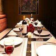 全室完全個室☆安全安心の空間で、優雅な食事をお届け。