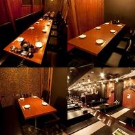 【完全個室・半個室】2~4名様個室12席。5名様個室6席。