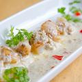 料理メニュー写真ホタテのグリル キノコとクリ-ムのソース
