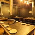 【会社宴会にも★】飲み会に最適な横長テーブル席。14名様のご利用可能。