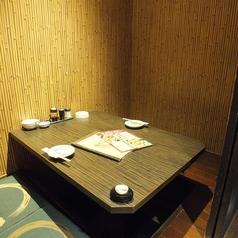 2名様のお席。静かな空間をお楽しみ下さい。