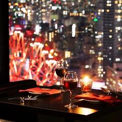 夜景のお席は早いもの勝ち!美味しい料理を頂きながら、素敵な景色で癒されてください。窓際席はいつも満席ですのでお早めに!!工夫を凝らした目にも楽しい料理を夜景と共にご堪能下さい☆