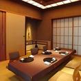 落ち着いた雰囲気の御座敷個室で御座います