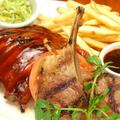 料理メニュー写真リブ&グリルドラムチョップRibs&Grilled Lamb Chops