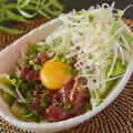 料理メニュー写真馬肉の桜ユッケ