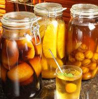 【自分好みのお酒を】自家製の果実酒も多数ご用意◎