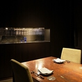 テーブル席の個室(2名~8名様)