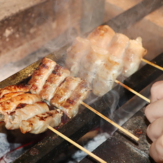 備長炭で焼く料理たち