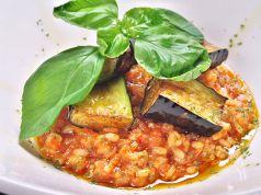 料理メニュー写真ベーコンと茄子のトマトリゾット