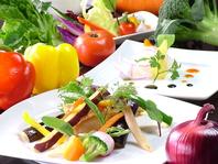 県産各地から直送されるフレッシュな有機野菜達