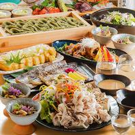 越後の名物料理&和食創作料理を揃えたコース