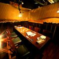 中人数~のテーブル席のお部屋。こちらのお席も人気のお席となっております。