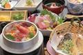 料理メニュー写真釜めし天ぷら刺身膳