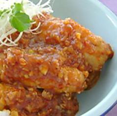アボカドの肉巻きチリソース