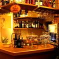 お酒だけでもOK!バーカウンターもあります。