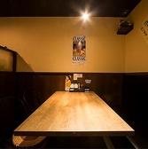 4名様用のテーブル席です。女子会、同僚や仲間との飲み会、同窓会など様々なシーンに対応できます。