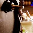 【樽生スパークリング プロドライ】!一杯ごとに樽から注ぐ、フレッシュでやや辛口タイプのスパークリングワインです。ちょっと贅沢な一杯をご希望でしたら、まずはこちらをご注文ください♪赤ワイン・白ワインも5種類ご用意しておりますので、お好みのお料理に合わせてご利用くださいませ!