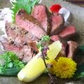 料理メニュー写真【播州牛】牛のたたき/牛タン炙り焼