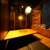 2名様~ご利用いただける個室は、落ち着いた光でゆったりおくつろぎいただけます。