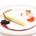 料理メニュー写真ドイツ風チーズケーキ&アイスクリーム