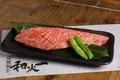 料理メニュー写真特選イチボの一刀斬り(150g)