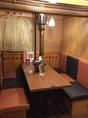 4名~6名様用のテーブル半個室。扉があるのでまわりのお客様も気になりません。合コンや女子会におすすめです!