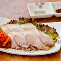 料理メニュー写真蒸し豚(キムチ付)