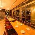 【~20名様席】清潔感のある店内でワインと本格イタリアンをゆっくりお愉しみください。