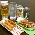 料理メニュー写真串たこセット【17時~】・ドリンク1杯付き