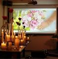 100インチの大型スクリーン完備◆女子会や誕生日会におすすめ♪貸切も20名様~最大45名様まで可能!!貸切・女子会・誕生日会・サプライズなどお任せください☆
