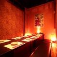 プライベート感を楽しむならこちら!縦長の完全個室は様々なシーンでご利用いただけます。合コンや女子会にも♪